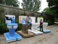 Giant fibreglass toilets
