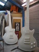 Guitars awaiting finishing work
