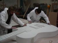 Guitars being made