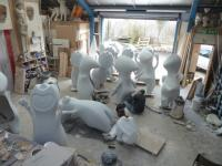 Wenlock statues being worked on